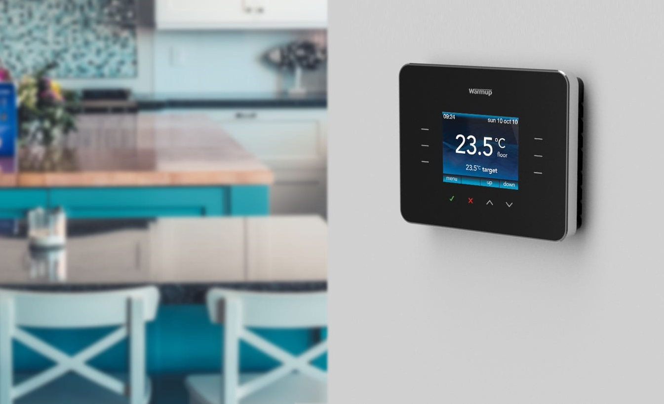 3iE programmable thermostat in kitchen