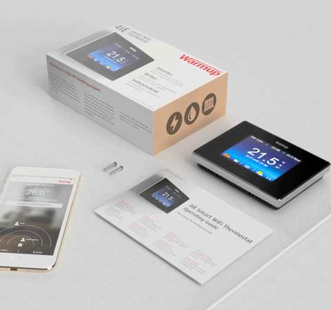 smart thermostat with box